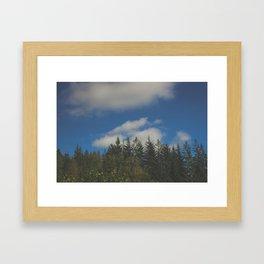 Trees. Sky. Nature. Scotland. Framed Art Print
