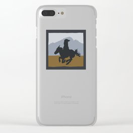 Mongolian on Horseback Clear iPhone Case