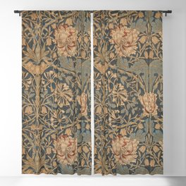 Honeysuckle by William Morris 1876 Antique Vintage Pattern, CC0 Spring Summer Blackout Curtain