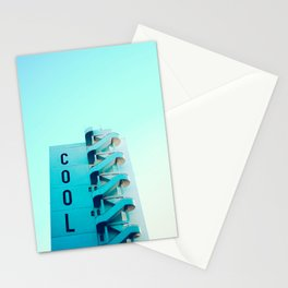 Modern cool typography architecture building blue sky photography Stationery Cards