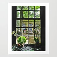 Looking Into the Courtyard Art Print