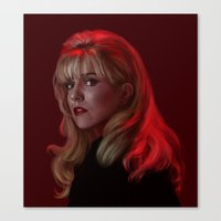 laura palmer Canvas Prints featuring Laura Palmer from Twin Peaks by Annike