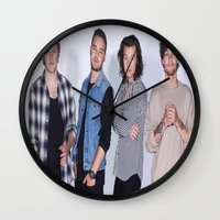 1d Wall Clocks featuring New 1D by kikabarros