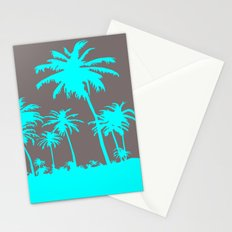 Turquoise Palm Trees Stationery Cards
