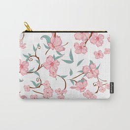 Creepy Flowers Pattern Carry-All Pouch