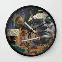 chuck Wall Clocks featuring Chuck Gross by Strawberry Wastebasket