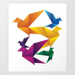 Folded Flight Art Print