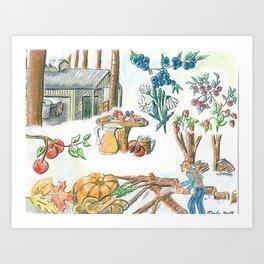 Maple time Art Print