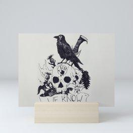 We know Mini Art Print