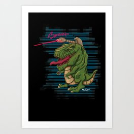 Laser T-Rex Art Print