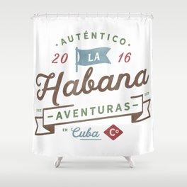 Vintage Havana Cuba Logo Shower Curtain
