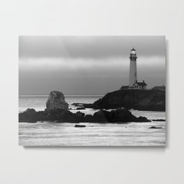 Lighthouse at Pigeon Point, California Metal Print