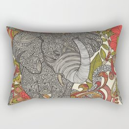 Bo the elephant Rectangular Pillow