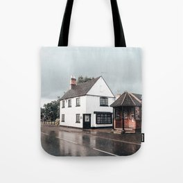 Rain storm in England Tote Bag