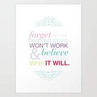 Why it will Art Print