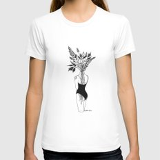 Fragile White SMALL Womens Fitted Tee