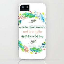 Two Feral Creatures iPhone Case