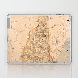 Map Of New Hampshire 1890 Laptop & iPad Skin