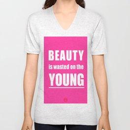 beauty wasted again Unisex V-Neck