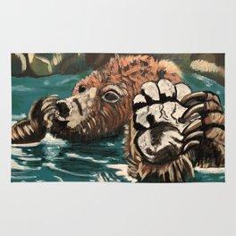 Chill Bear by Noelle's Art Loft Rug