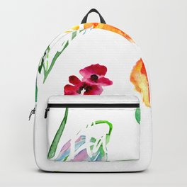 Wildflowers Watercolor Plant These and Save the Bees Beekeeper Backpack
