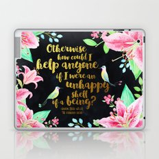 The Forbidden Orchid - How Could I Help Anyone - Gold Foil Laptop & iPad Skin