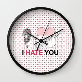 I Hate You / Box Wall Clock