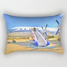 Pop Art Airliner Rectangular Pillow