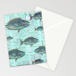 Swimming Against the Tide Stationery Cards