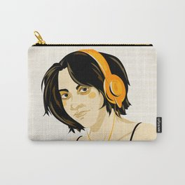 Gynoid - Woman with Orange Headphones Carry-All Pouch