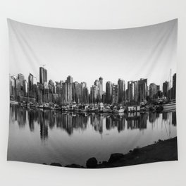 Black and White City Wall Tapestry