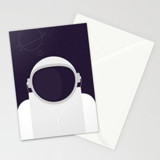 Astronaut is listening music Stationery Cards