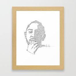 Kendrick Lamar Portrait: #blacklivesmatter Framed Art Print