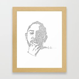 Kendrick Lamar Portrait: #blacklivesmatter Framed Art Print
