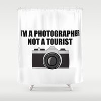 photographer Shower Curtains featuring Photographer Tourist Funny by bitobots