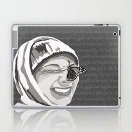 Happiness in Grayscale Laptop & iPad Skin