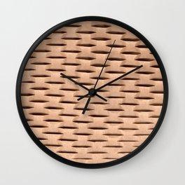Brown Kraft Paper Weave Texture Wall Clock