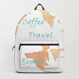 Coffee, Travel, Repeat Backpack