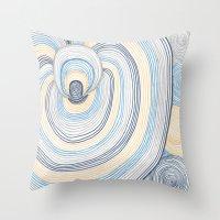portal Throw Pillows featuring Portal by Shiny Jill