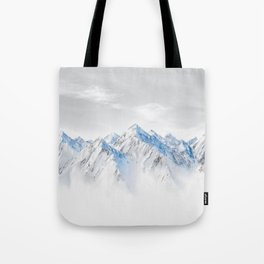 Snow Capped Mountains Tote Bag