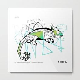 Geometric chameleon Metal Print