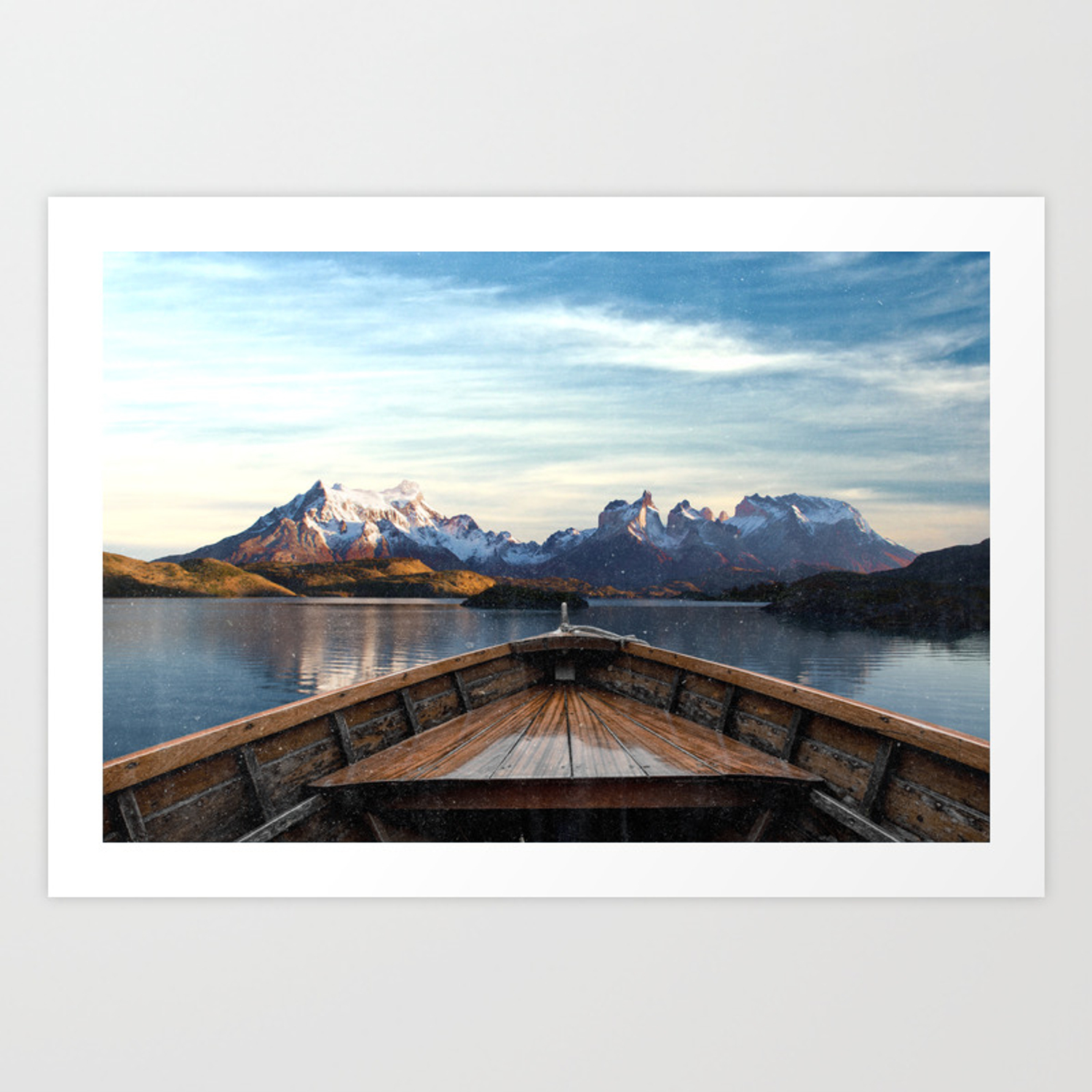 Torres Del Paine National Park Chile The Boat In Patagonia Art Print By Anthonylonder Society6