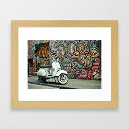 Vespa Chariot Framed Art Print