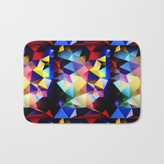 Abstract Triangles And Texture Bath Mat
