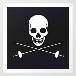 Pirate Skull 4 Art Print