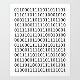 Binary Baby Art Print