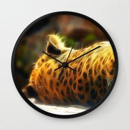 Cheetah fractal animal Wall Clock