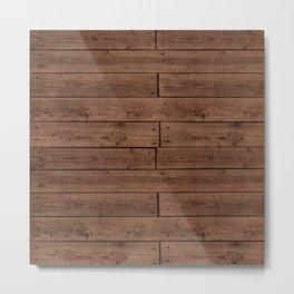 Reclaimed Floorboards Wood Pattern Metal Print