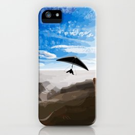 Hang gliding iPhone Case