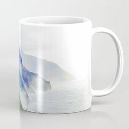 green mountain with ocean view at Kauai, Hawaii, USA Coffee Mug